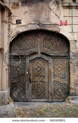Old Big Steel Doors On Building Stock Photo (Edit Now) 66049…