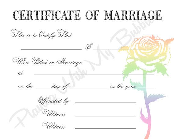 Certificate My rockabilly Halloween wedding Pinterest - sample marriage certificate