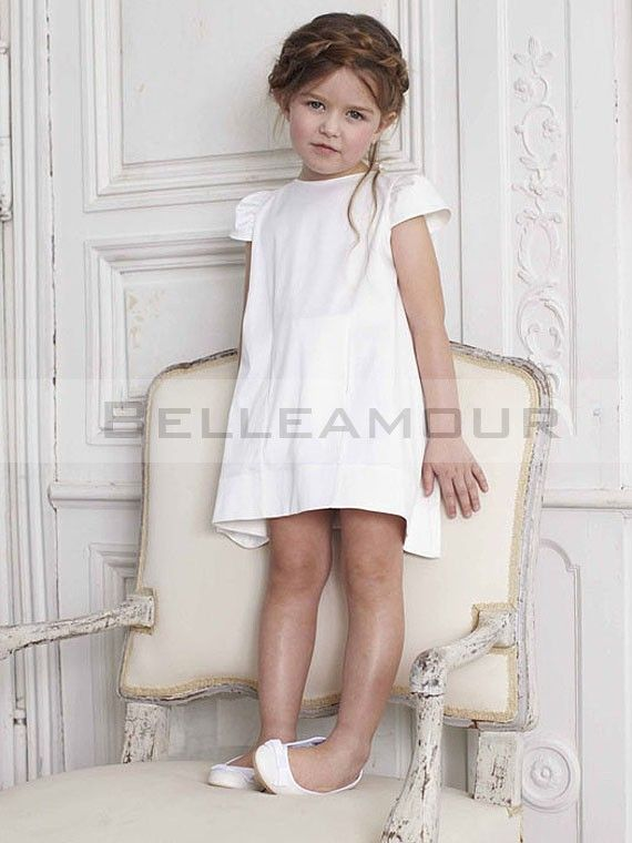robe de cort ge enfant blanche manches courte noeud cort ge pinterest noeud robe de et robes. Black Bedroom Furniture Sets. Home Design Ideas
