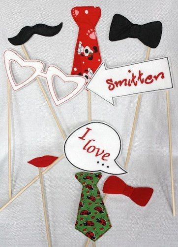 Valentines Day Photo Props, $4.00