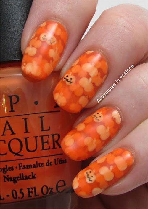 Halloween Pumpkin Nail Art Designs Ideas Halloween Pumpkin Nail