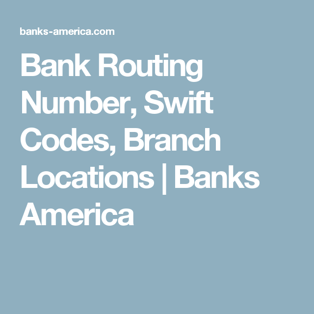 bank branch locations