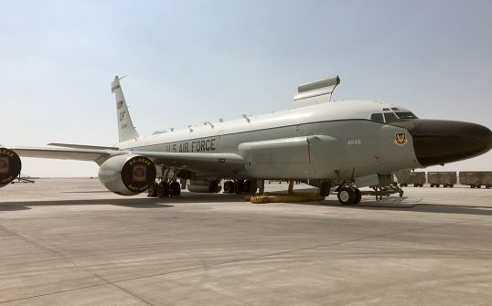 This RC-135 Rivet Joint reconnaissance aircraft has been flying