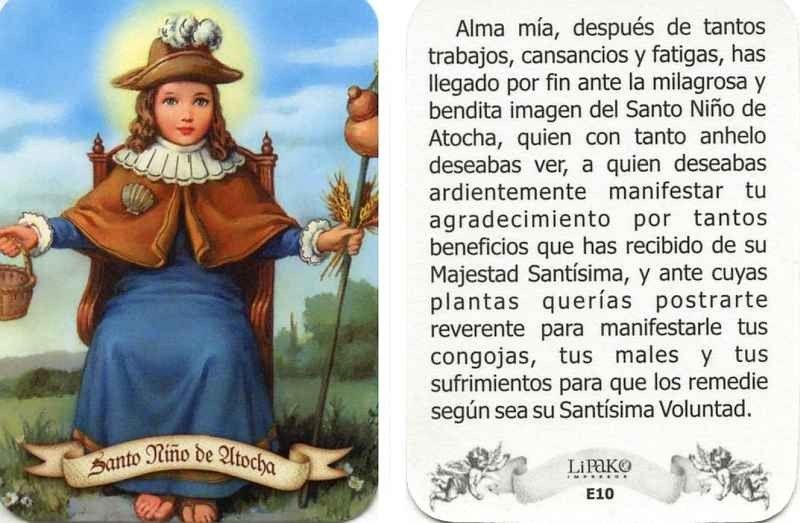 la oracion del santo nino de atocha