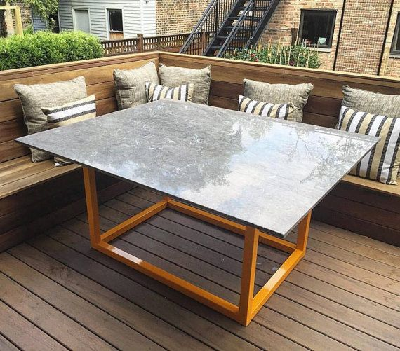 Custom Outdoor Dining Table Granite Outside Patio Furniture Kitchen