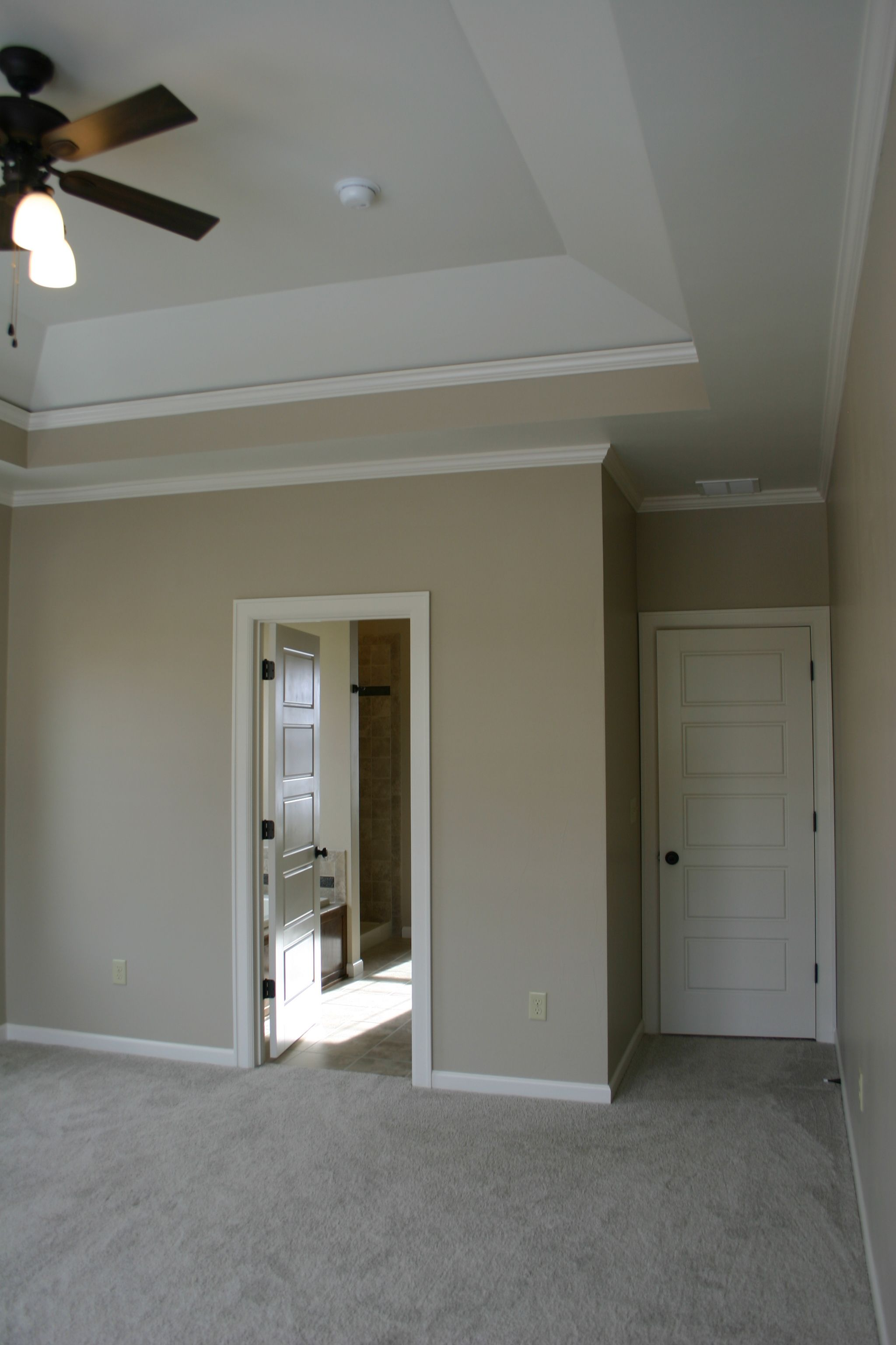 tray ceiling - this could be a good option for the main floor