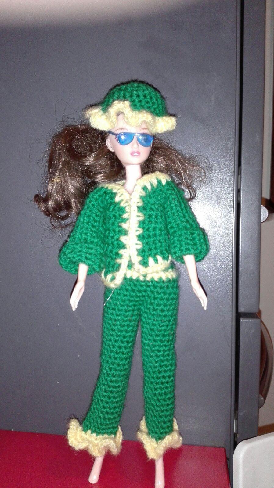 Vestito Verde E Giallo Barbie Crochet Uncinetto Schema Grtis