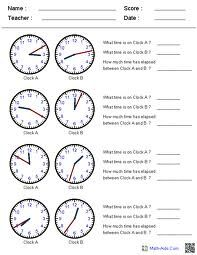 worksheets for telling-time word problems (With images