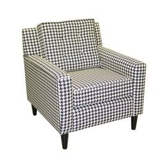 Amazing Clybourn Loft Armchair Houndstooth Black White At Target Camellatalisay Diy Chair Ideas Camellatalisaycom