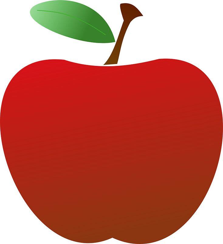 Simple Red Apple Design Apple Clip Art Free Clip Art Teacher Apple