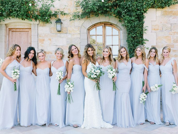 Intimate Summer Sunstone Villa Wedding | Periwinkle bridesmaid ...