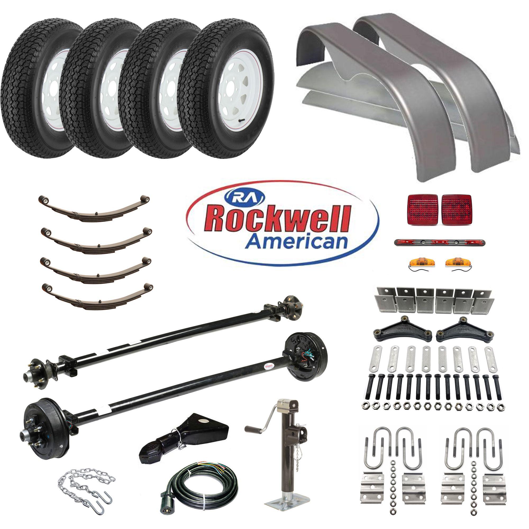 Tandem Axle Trailer Parts Kit  7,000 lb Capacity  Brakes