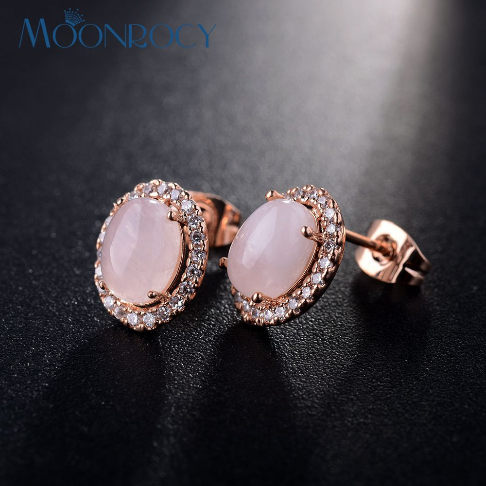 MOONROCY Free Shipping Zirconia fashion jewelry wholesale Rose Gold