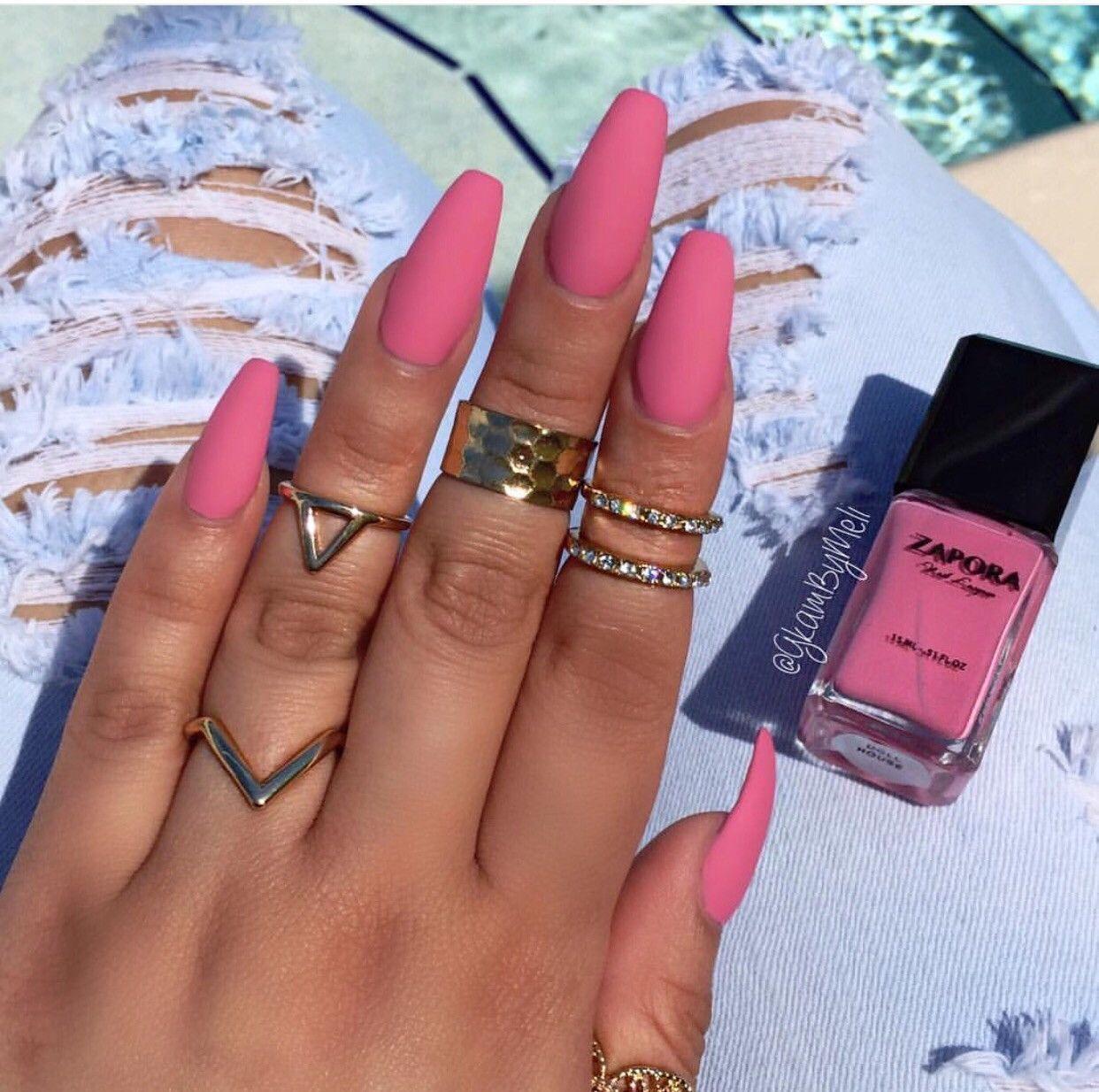 Purple Matte Nails | Coffin Nails | Pinterest | Matte nails and Purple