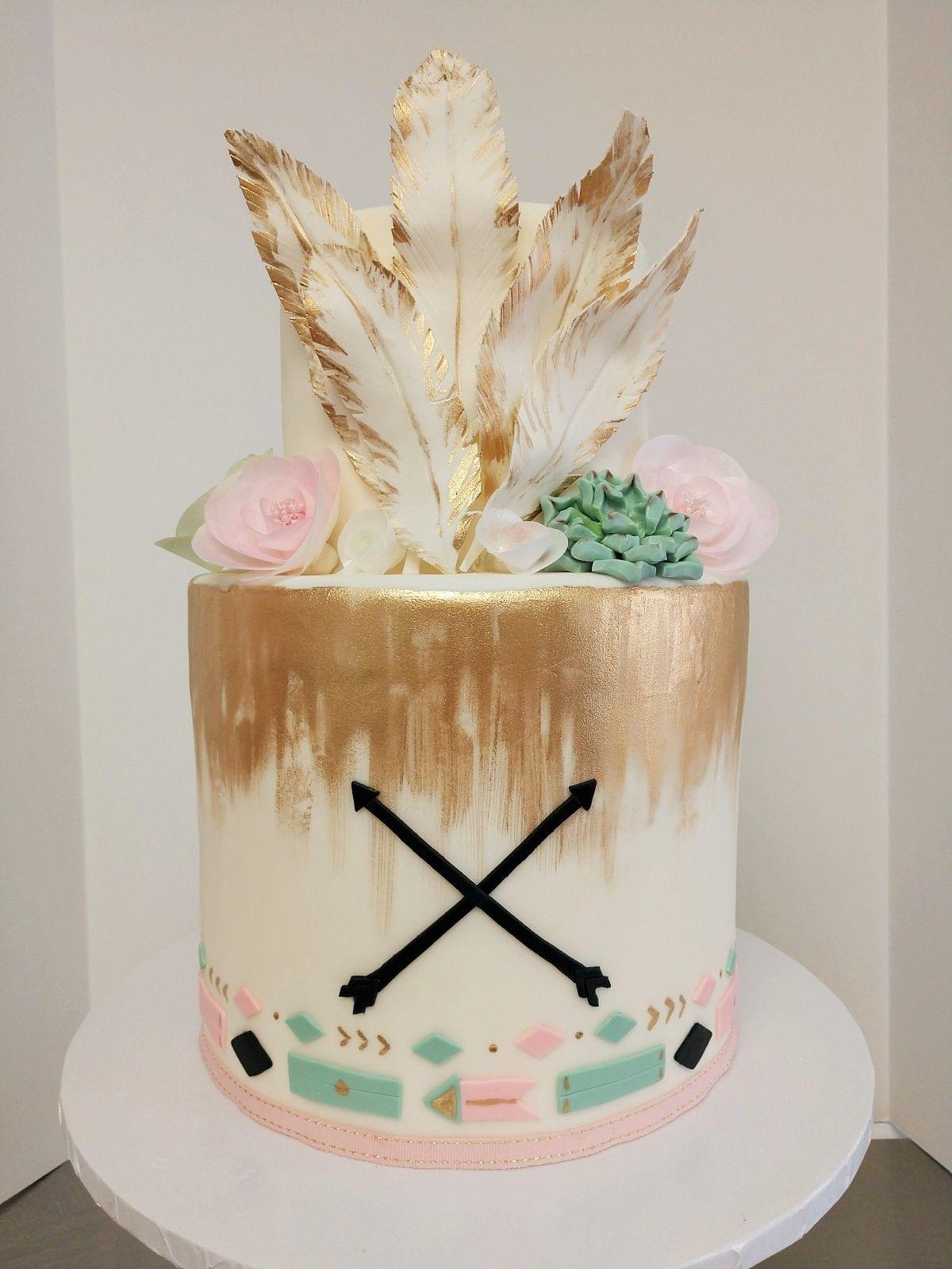 Boho Adventure Tribal Cake Boho Chic Baby Shower Birthday Cake Girls Baby Shower Cakes Girl Boho Cake