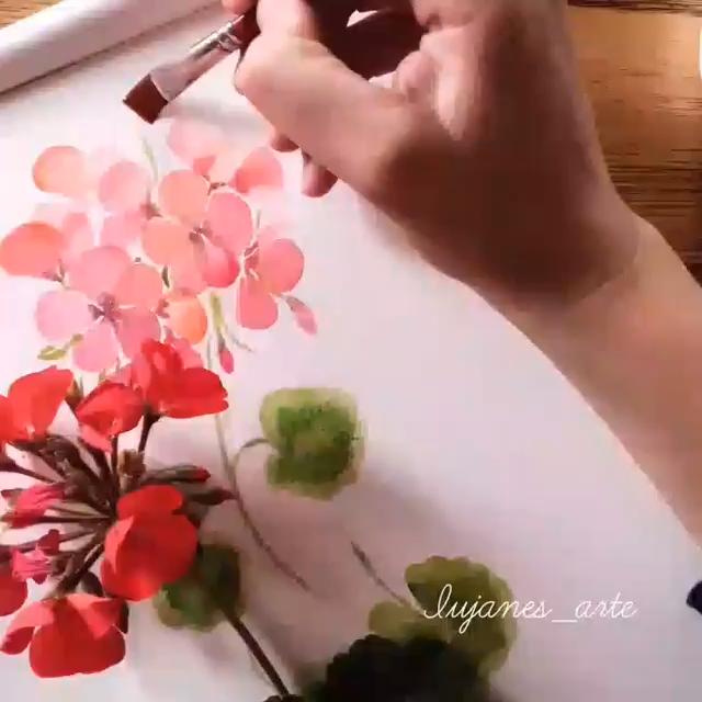 Watercolor Painting flower diy