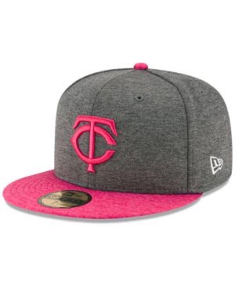 Minnesota Twins New Era 5950 Graphite Fuchsia Mother s Day Fitted Hat Size  7 5 8  NewEra  MinnesotaTwins cf632b1aab0e