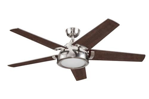 Turn Of The Century Alban 52 Brushed Nickel Led Ceiling Fan At