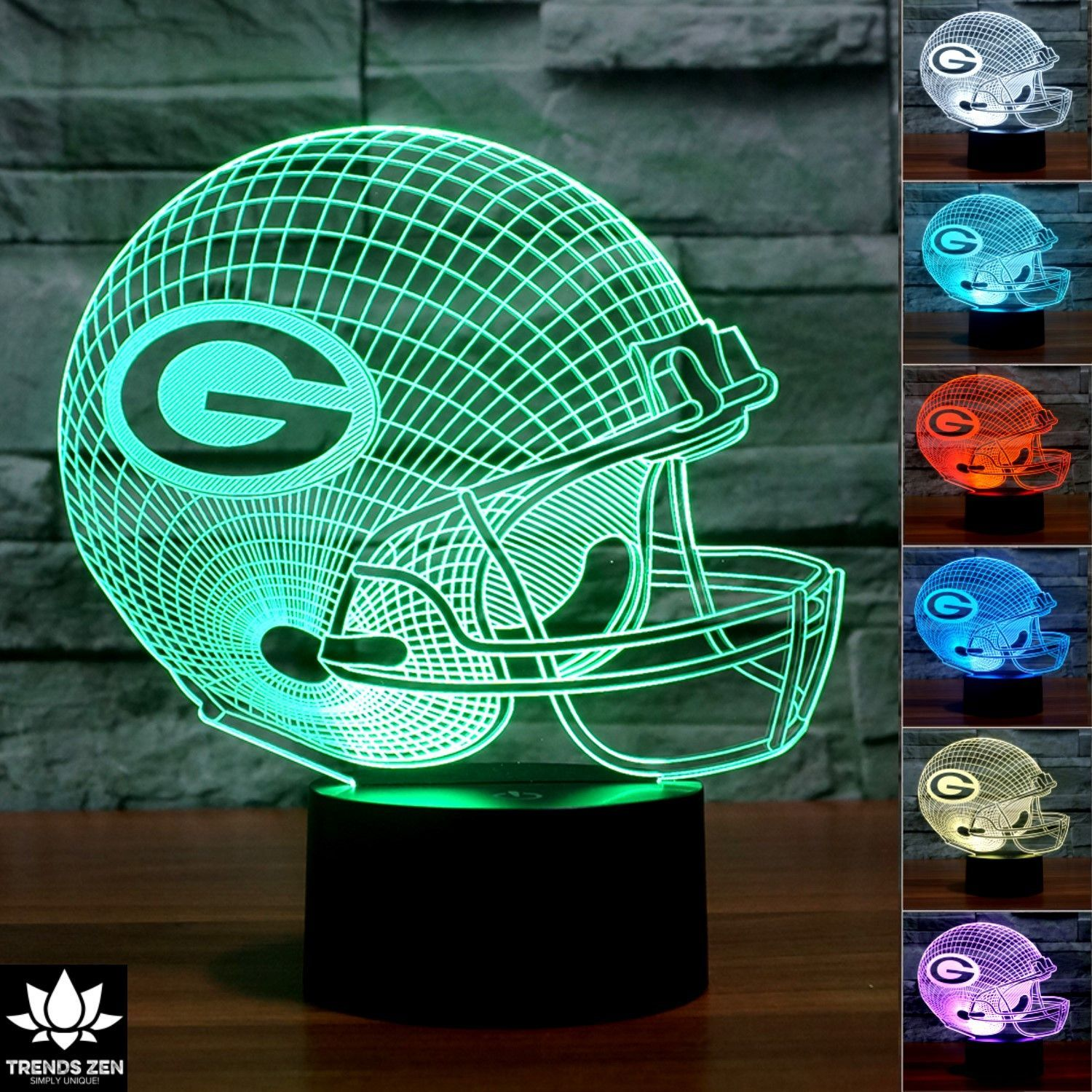 Nfl Green Bay Packers 3d Led Lamp 3d Led Light Led Light Lamp Lamp Light