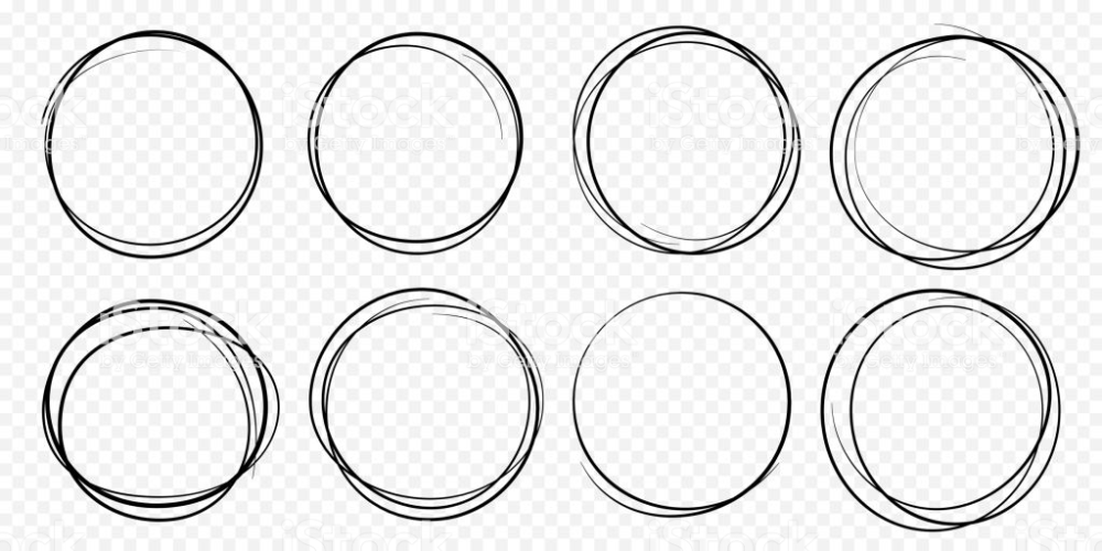 Hand Drawn Circle Line Sketch Set Vector Circular Scribble Doodle How To Draw Hands Line Sketch Circle Logo Design