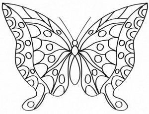 hearts and butterflies coloring page free printable - 774×595