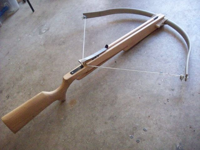 Pvc crossbow diy and crafts pinterest crossbow archery and weapons - How to make a homemade bow and arrow out of wood ...