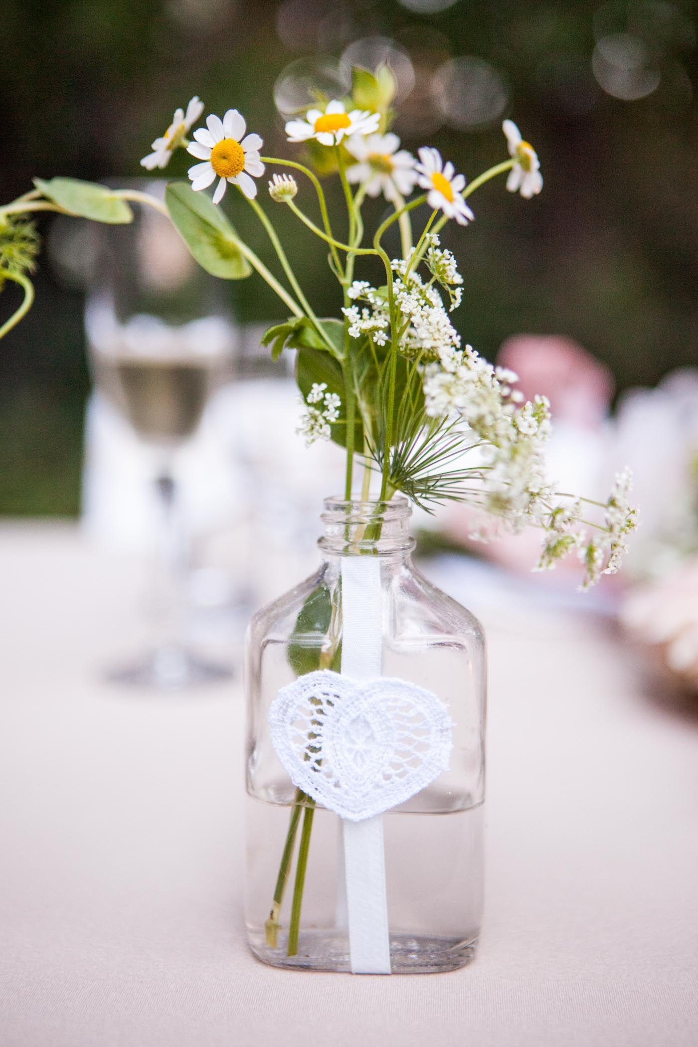 Vintage Bottle and Wildflower Centerpieces wedding, diy wedding ...