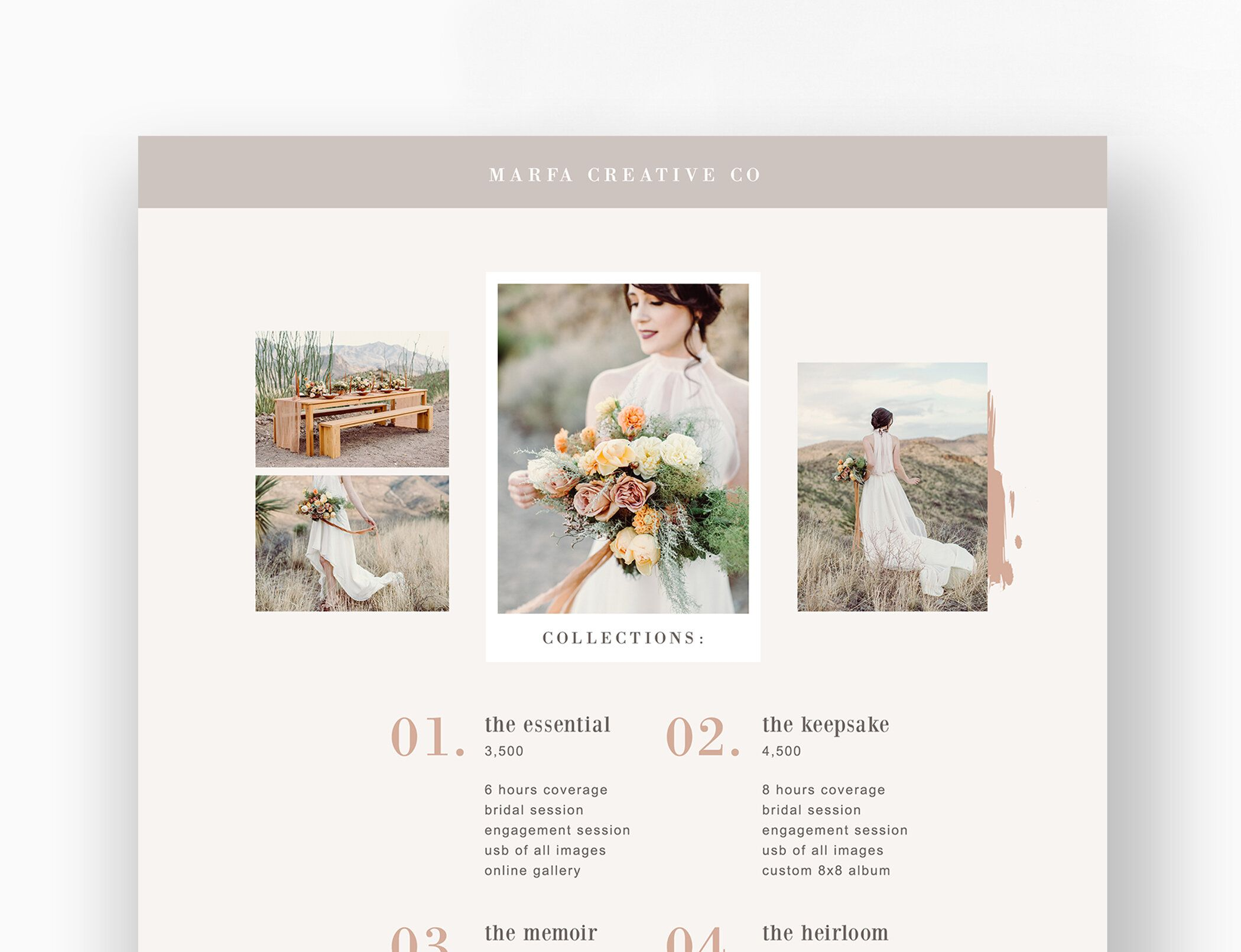 Wedding Photography Pricing Template Boho Style Wedding Photographer Price List Design For Photoshop In 2020 Photographer Prices Photography Pricing Template Wedding Photography Pricing