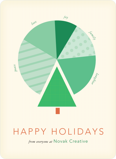 Corporate pie chart cards business holiday cards pie charts and chart