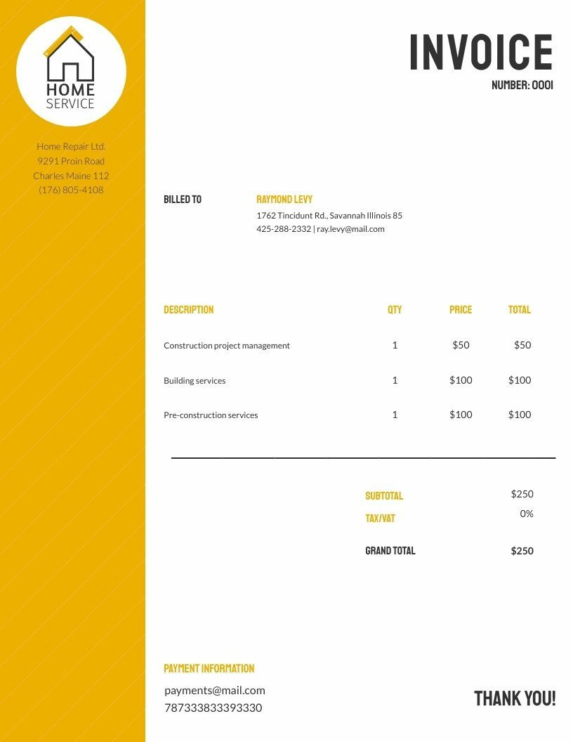Free invoices templates customize download visme in