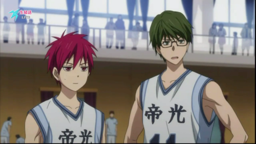 Midorima and Akashi | poker face