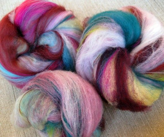 Pink Goby Shrimp hand dyed fiber by coollight