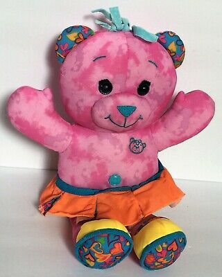 2005 Pink Doodle Bear in Orange Dress Plush Stuffed Animal Soft Toy | eBay