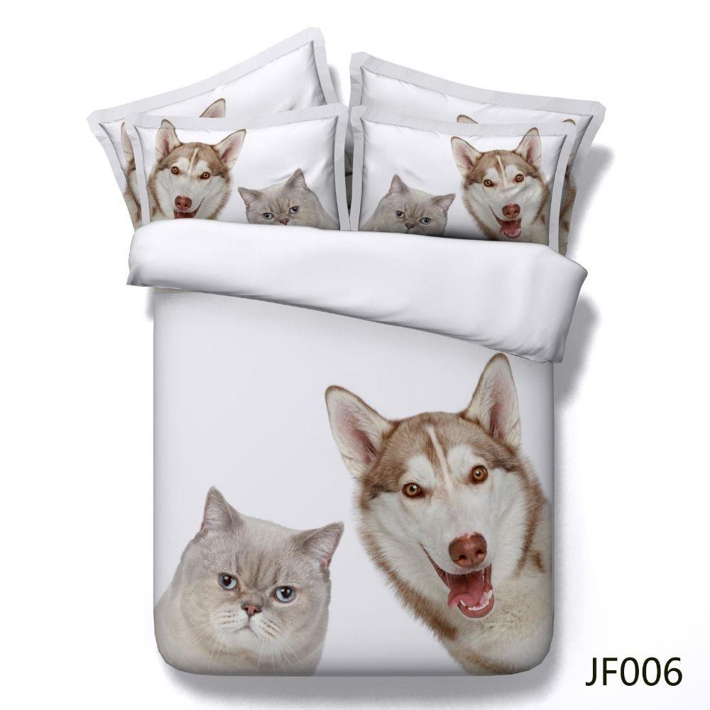 royal textile linge de lit Linge de lit en 3D les animaux avec drap de coton noir de masse  royal textile linge de lit