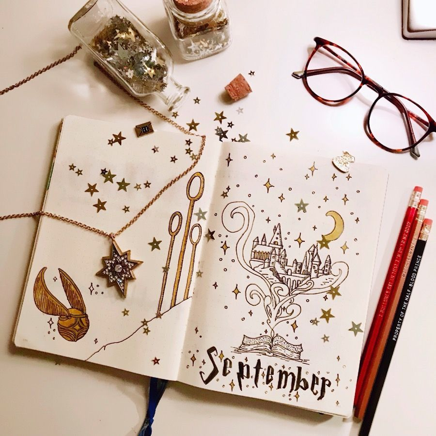 17 Harry Potter Bullet Journal Spreads That Are Magical - TheFab20's #birthdaymonth