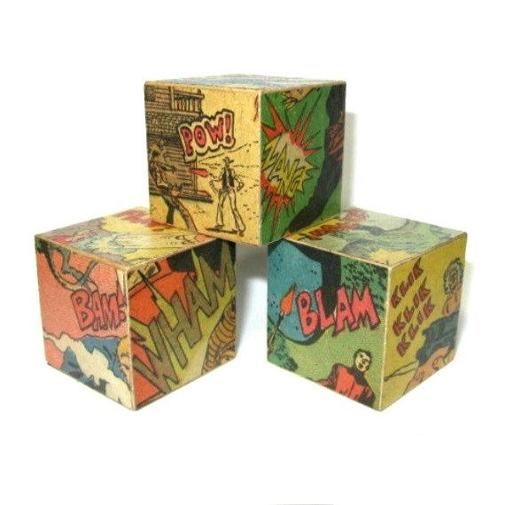 Decorative Fake Book Boxes Comic Book Decor Comic Decorative Blocks Geekery Mandadadreams