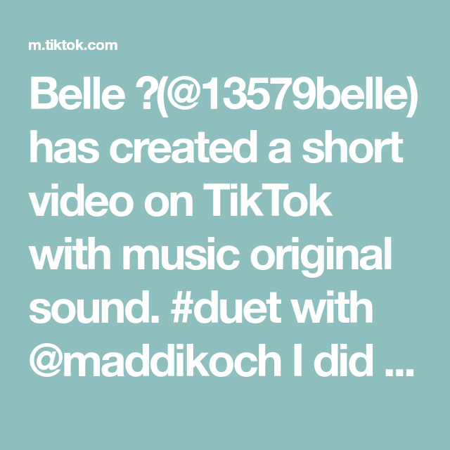 Belle 13579belle Has Created A Short Video On Tiktok With Music Original Sound Duet With Maddikoch I Did Both Side The Originals Music Splits Challenge