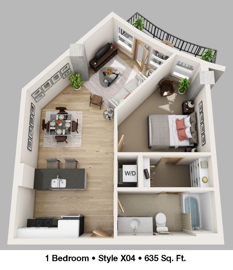 One Bedroom Plus X04 Casa Perfecta Disenos De Unas Hogar