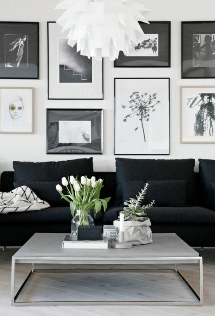 schön wohnzimmer deko schwarz weiss | wohnzimmer deko | pinterest ... - Deko Wohnzimmer Schwarz