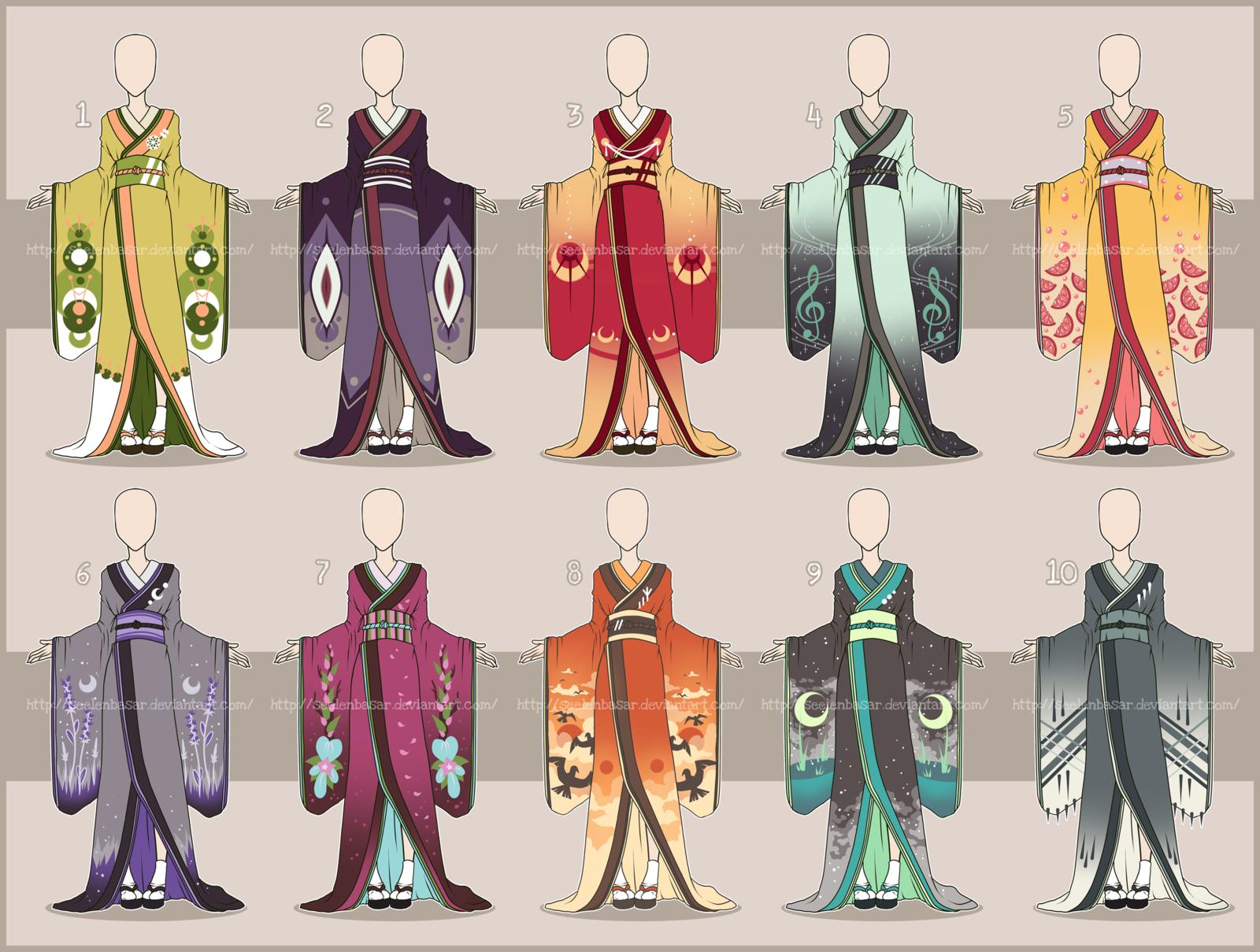 Character Design Kimono : All the kimonos adopts open by seelenbasar