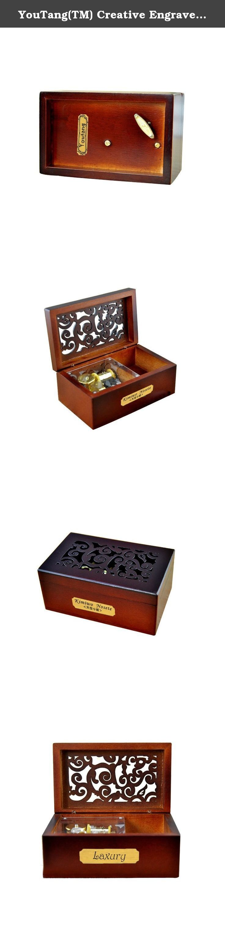 YouTang TM Creative Engraved Wooden 18 note Wind up Musical Box