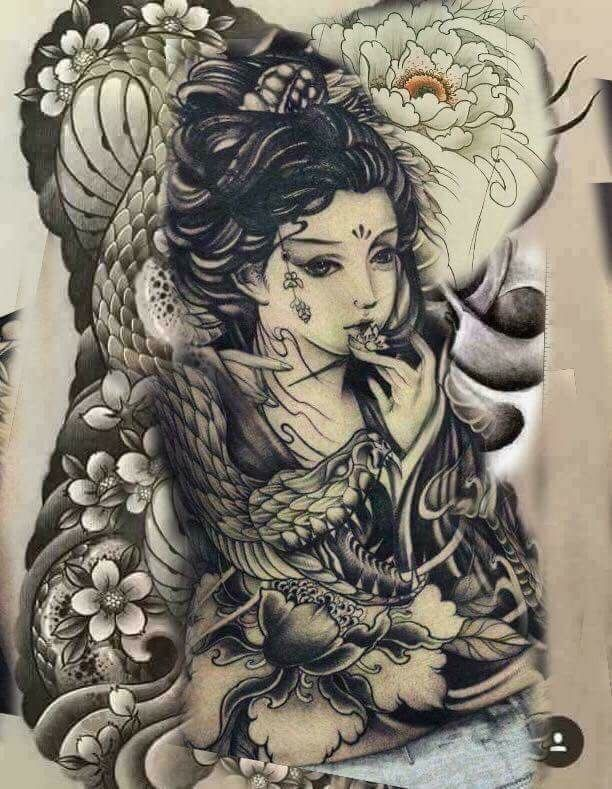 full l ng full back pinterest geisha tattoo and japanese tattoos. Black Bedroom Furniture Sets. Home Design Ideas