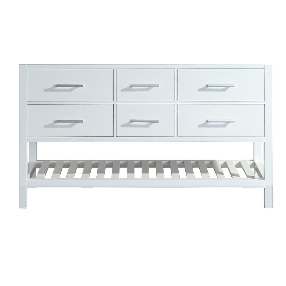 Design Element London 59.5 in. W x 21.5 in. D Vanity Cabinet Only in ...