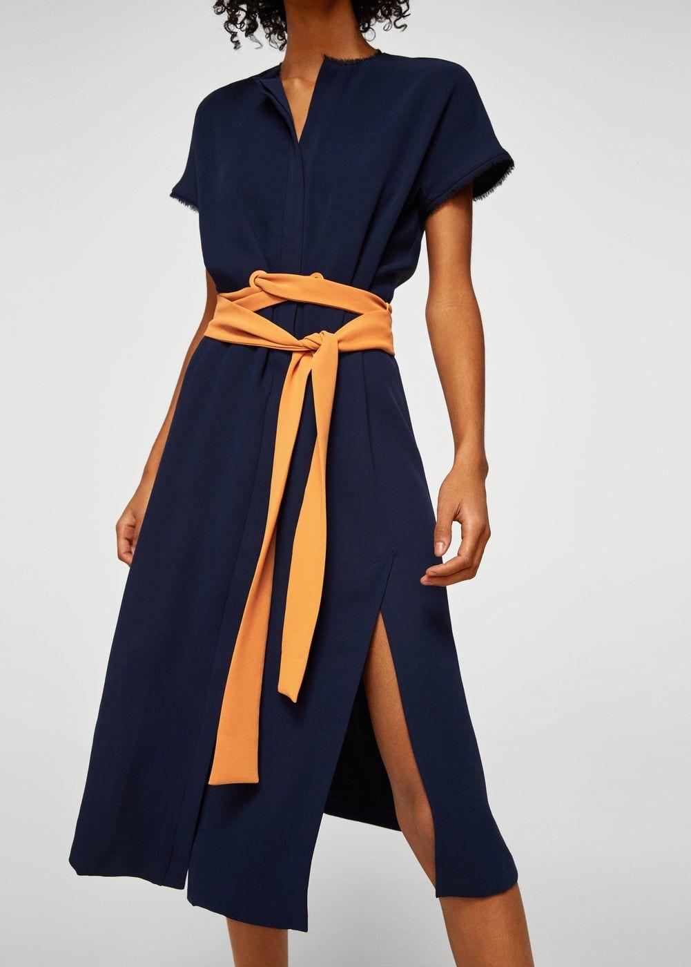 39e86b96a Vestido cinturón lazo - Mujer | Working Days Spring/Summer ...