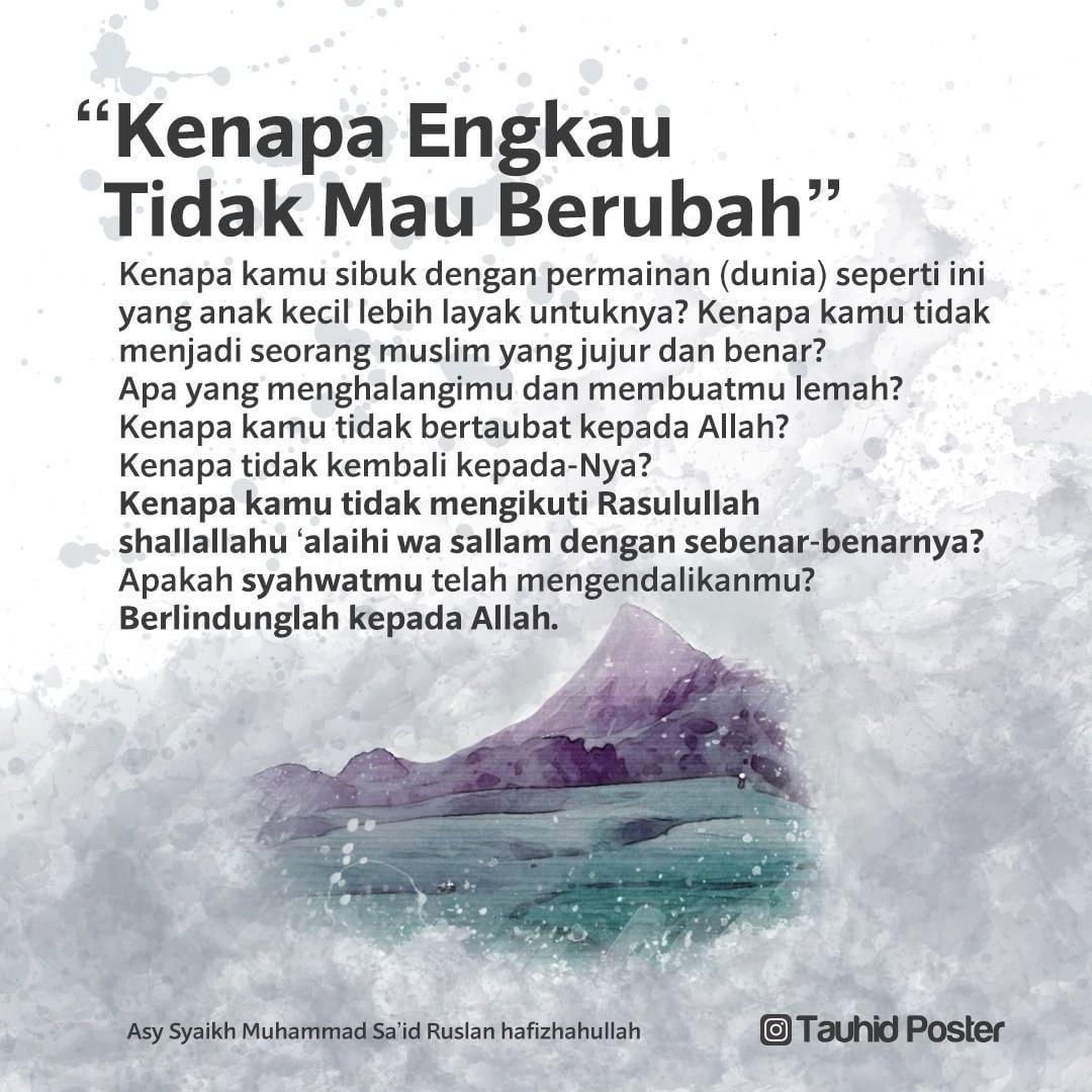 Pin Oleh Tauhid Poster Di Sebar Faedah 1 Kata Kata Mutiara