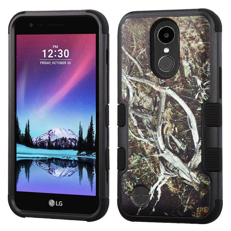 Insten Vines Tuff Hard PC/ Silicone Dual Layer Hybrid Rubberized Matte Case Cover For LG Harmony/ K20 Plus #2343617