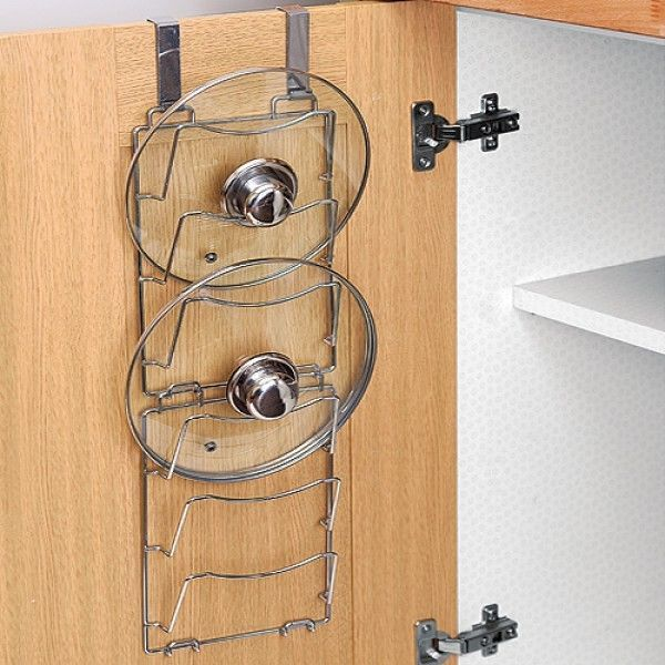 Pots And Pans Storage Ideas To Take Note Of: Details About Over Door Lid Storage