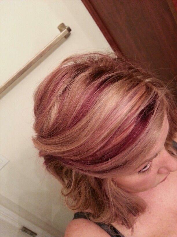 Plum Highlights With Blonde Hair Pinterest Plum Highlights