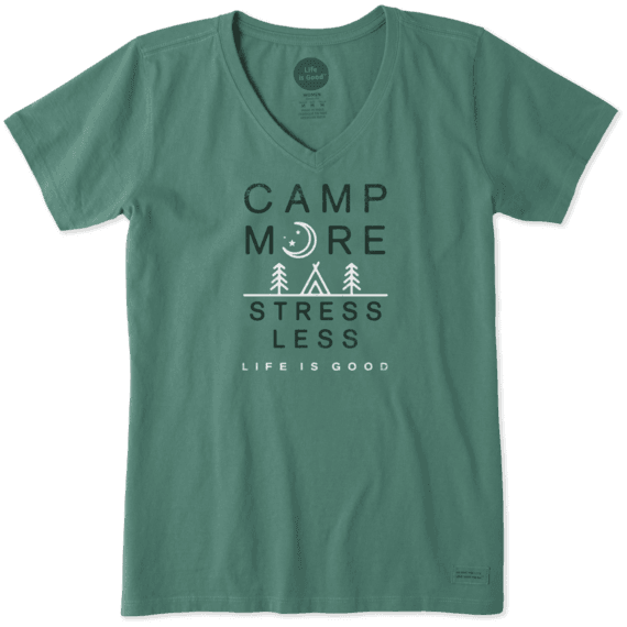 e0f2464837b Shop Women s Camp More Crusher Vee s at the official Life is Good® store.  Get free shipping on orders over  49. 10% of net profits go to help kids in  need.