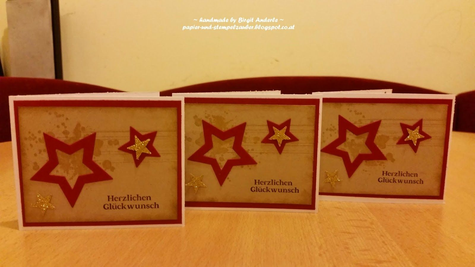 Papier+und+Stempelzauber:+kleine+Glückwunschkarten